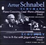 Schumann: Piano Concerto; Schubert: Trio in B flat