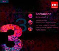 Schumann: Symphonies Nos. 1-4; Manfred Overture; Piano Concerto; Cello Concerto - Christian Zacharias (piano); Truls Mørk (cello); WDR Orchestra, Köln; Hans Vonk (conductor)