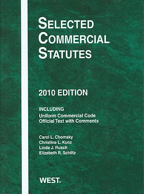 Selected Commercial Statutes -
