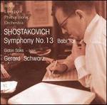 "Shostakovich: Symphony No. 13 ""Babi Yar"""