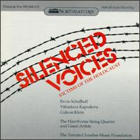 Silenced Voices - Edwin Barker (double bass); Fenwick Smith (flute); Hawthorne String Quartet; Mark Ludwig (viola); Sally Pinkas (piano);...