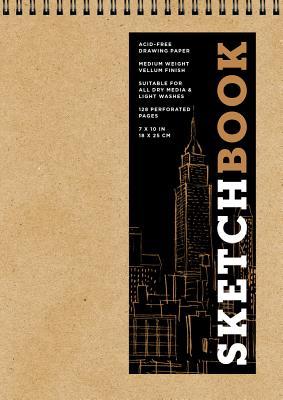 Sketchbook (Basic Medium Spiral Fliptop Landscape Kraft), Volume 19 - Sterling Publishing Company