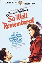 So Well Remembered - Edward Dmytryk