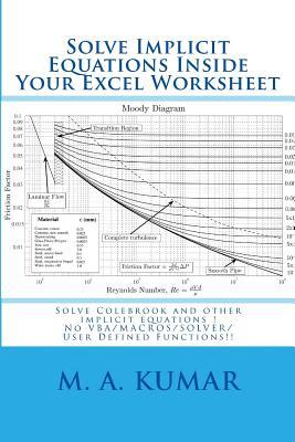 Solve Implicit Equations Inside Your Excel Worksheet Solve