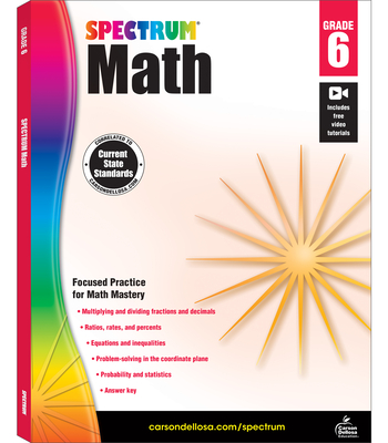 Spectrum Math Workbook, Grade 6 - Spectrum (Compiled by)