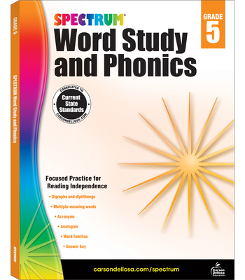 Spectrum Word Study and Phonics, Grade 5 - Spectrum (Compiled by)