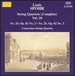 Spohr: Complete String Quartets, Vol. 10