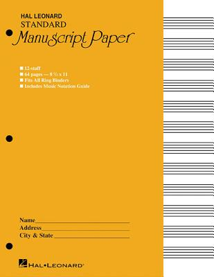 Standard Manuscript Paper ( Yellow Cover) - Hal Leonard Publishing Corporation (Editor)