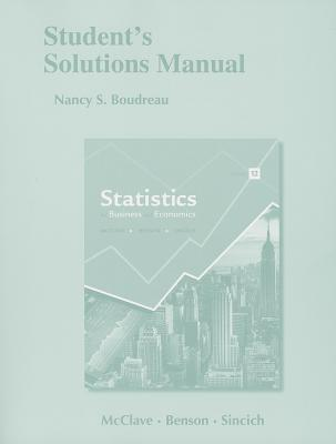 Statistics for Business and Economics: Student's Solutions Manual - Boudreau, Nancy