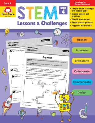 Stem Lessons and Challenges, Grade 4 - Evan-Moor