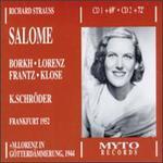 Strauss: Salome - Aage Poulson (vocals); August Heimpel (vocals); Christa Ludwig (vocals); Eugene Willmann (vocals); Ferdinand Frantz (vocals);...
