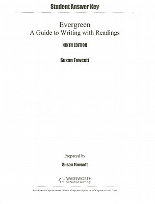 student answer key for evergreen a guide to writing with readings rh alibris com St. Martin's Guide to Writing evergreen a guide to writing with readings 9th edition pdf