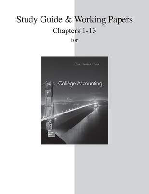 Study Guide and Working Papers for College Accounting (Chapters 1-13) - Price, John Ellis