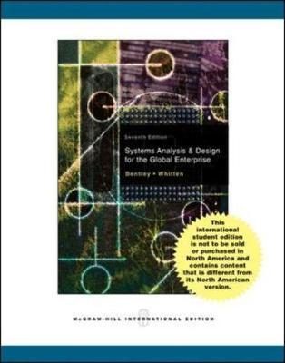 Systems Analysis and Design for the System Enterprise - Whitten, Jeffrey, and Bentley, Lonnie