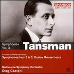 Tansman: Symphonies, Vol. 3 - On the Symphonic Edge