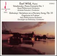 Tchaikovsky: Piano Concerto No. 1 - Earl Wild (piano)