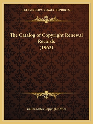 The Catalog of Copyright Renewal Records (1954) - United States Copyright Office