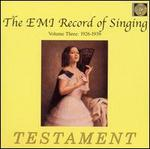 The EMI Record of Singing, Vol. 3 1926-1939