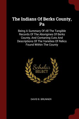The Indians of Berks County, Pa: Being a Summary of All the Tangible Records of the Aborigines of Berks County, and Contaning Cuts and Descriptions of the Varieties of Relics Found Within the County - Brunner, David B