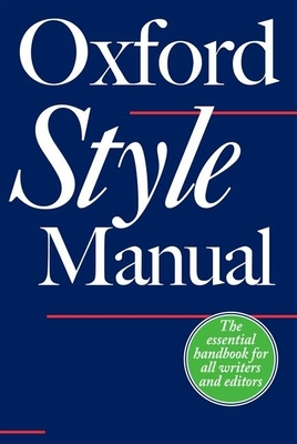 The Oxford Style Manual - Ritter, Robert M