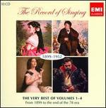 The Record of Singing, 1899-1952: The Very Best of Volumes 1-4 - Adelina Patti (soprano); Aksel Schiøtz (tenor); Albert Coates (piano); Alda Noni (soprano); Alessandro Bonci (tenor);...