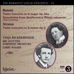 The Romantic Violin Concerto Vol. 16: Busoni, Strauss