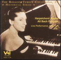 The Rosalyn Tureck Collection, Vol. 4: Harpsichord Recital All Bach Program - Rosalyn Tureck (harpsichord)
