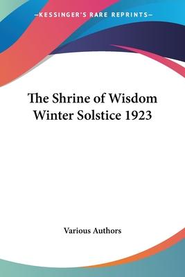 The Shrine of Wisdom Winter Solstice 1923 - Various