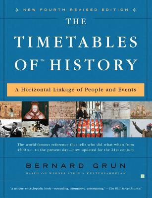 The Timetables of History: A Horizontal Linkage of People and Events - Grun, Bernard