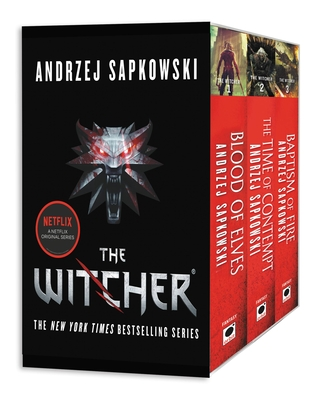 The Witcher Boxed Set: Blood of Elves, the Time of Contempt, Baptism of Fire - Sapkowski, Andrzej, and French, David A (Translated by)