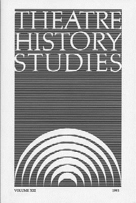 Theatre History Studies 1993, Vol. 13 - Engle, Ron (Editor)