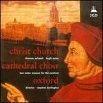 Thomas Ashwell, Hugh Ashton: Two Tudor Masses for the Cardinal