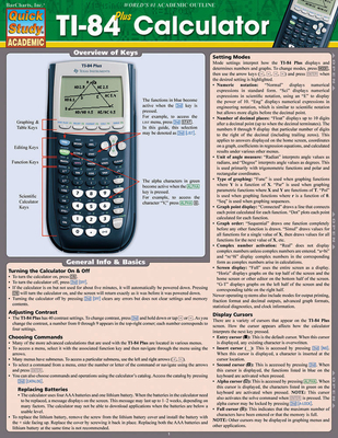 Ti 84 Plus Calculator - BarCharts Inc