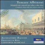 Tomaso Albinoni: Integrale dei concerti per oboe e due oboi