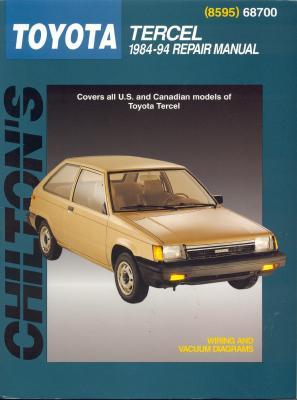 Toyota Tercel, 1984-94 - Chilton Automotive Books, and Chilton