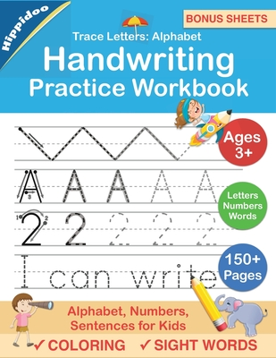 Trace Letters: Alphabet Handwriting Practice workbook for kids: Preschool writing Workbook with Sight words for Pre K, Kindergarten and Kids Ages 3-5. ABC print handwriting book - Lalgudi, Sujatha