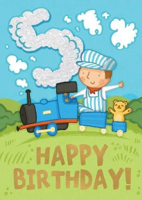 Trains (Age 5) - Happy Birthday Card-Book: 6 Card-Book Pack -