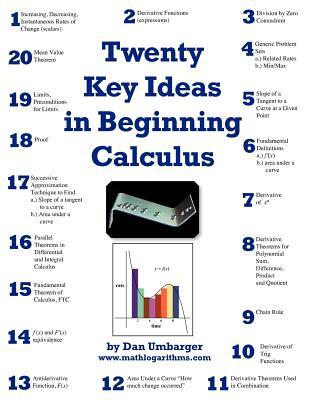 Twenty Key Ideas in Beginning Calculus - Umbarger, Dan, and Morris, John (Editor)