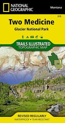 Two Medicine-Glacier National Park: Trails Illustrated-National Park Maps - National Geographic Maps