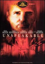 Unspeakable - Thomas J. Wright