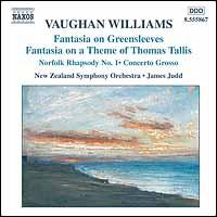 Vaughan Williams: Fantasia on Greensleeves; Fantasia on a Theme of Thomas Tallis; Norfolk Rhapsody No. 1 - New Zealand Symphony Orchestra; James Judd (conductor)