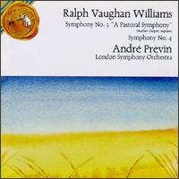Vaughan Williams: Symphony Nos. 3 & 4 - Gervase de Peyer (clarinet); Heather Harper (soprano); Osian Ellis (harp); William Bennett (flute);...