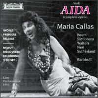 Verdi: Aida - Giulietta Simionato (vocals); Giulio Neri (vocals); Hector Thomas (vocals); Jesse Walters (vocals); Joan Sutherland (vocals); Kurt Baum (vocals); Maria Callas (vocals); Michael Langdon (vocals); Royal Opera House Covent Garden Chorus (choir, chorus)