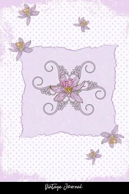 Vintage Journal: Dot Grid Journal - Abstract Art Creative Dirt Elegant Floral Flower Leaf Old Plant Splash Vintage - Black Dotted Diary, Planner, Gratitude, Writing, Travel, Goal, Bullet Notebook - 6X9 120 Pages - Designs, Vepa