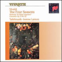 """Vivaldi: The Four Seasons; Sinfonia """"Al Santo Sepolcro""""; Concerto for 4 Violins & Violoncello in B minor - Alison Mackay (double bass); Charlotte Nediger (harpsichord); Christina Mahler (cello); Cynthia Roberts (violin);..."""