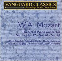 W.A. Mozart: The Great Piano Concertos - Alfred Brendel (piano); Denis Matthews (piano); Friedrich Gulda (piano); I Solisti di Zagreb; Vienna State Opera Orchestra;...