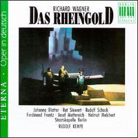 Wagner: Das Rheingold [Excerpts] - Benno Kusche (bass); Ferdinand Frantz (bass); Helmut Melchert (tenor); Johanna Blatter (alto); Josef Metternich (bass); Lisa Otto (soprano); Melitta Muszely (soprano); Rudolf Schock (tenor); Ruth Siewert (alto); Sieglinde Wagner (alto)