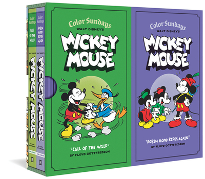 Walt Disney's Mickey Mouse Color Sundays Gift Box Set - Gottfredson, Floyd, and Gerstein, David (Editor), and Groth, Gary (Editor)