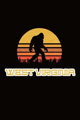 West Virginia: Bigfoot themed journal with names of States in America - Koorey, Nathan