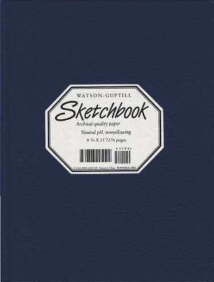 Wg Sketchbook Lizard Cover 8.25 X 11 Navy Blue - Watson-Guptill